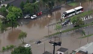 Brasil: paralización en el transporte público dejó nuevo temporal de lluvias en Sao Paulo