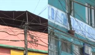 Maraña de cables se teje en los aires de La Victoria y Surquillo poniendo en peligro a vecinos