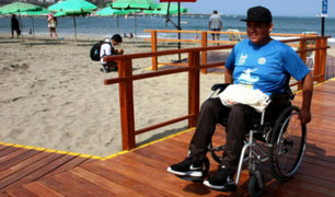 Playa Agua Dulce: instalan rampas para personas con discapacidad