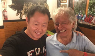 Virgilio Acuña publicó en Twitter foto con Kenji Fujimori