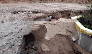 Tacna: intensas lluvias provocan el derrumbe de una vivienda