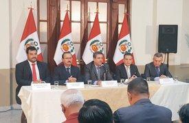 Virtuales congresistas de cuatro partidos firmaron pacto de gobernabilidad