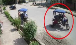 Pucallpa: ladrón intenta arranchar una cartera pero termina siendo arrastrado por su vehículo