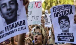Argentina: se realiza masivas marchas por joven asesinado por rugbistas