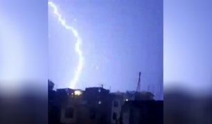 Arequipa: tormenta con relámpagos y truenos causó alarma esta madrugada