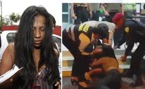 Mujer que agarró de los cabellos a una policía fue trasladada a la Fiscalía