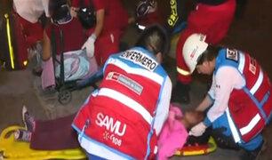 Accidente en Avenida Brasil dejó varios heridos
