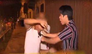 """Santa Beatriz: taxistas detienen a """"cogoteros"""" que asaltaron a pareja"""