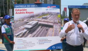 San Isidro: MML inauguró la nueva estación Andrés Reyes del Metropolitano