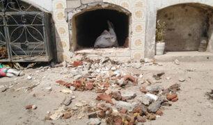 Tres nichos del cementerio de Tumán fueron profanados