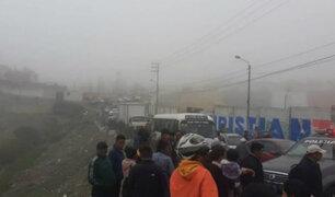Arequipa: densa neblina provocó suspensión de vuelos