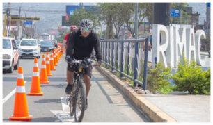 Corredor Tacna-Garcilaso: ampliarán carril exclusivo para ciclistas hasta el Rímac