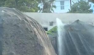 Costa Verde: fosa de desagüe ocasiona derrumbes en acantilado