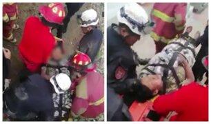 Tacna: familia fue rescatada tras derrumbe de mirador sobre su casa