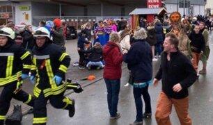 Alemania: sujeto atropelló al menos a 15 personas que desfilaban en un carnaval