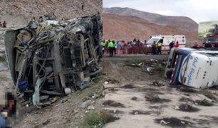 Tragedia en Arequipa: choque de dos buses deja 13 fallecidos y alrededor de 67 heridos