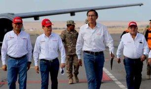 Martín Vizcarra llegó Tacna para supervisar zonas afectadas por huaico
