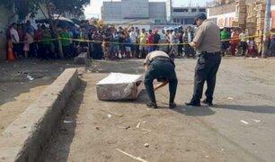 La Victoria: hallan restos humanos de una mujer dentro de una caja cerca al Mercado de Frutas