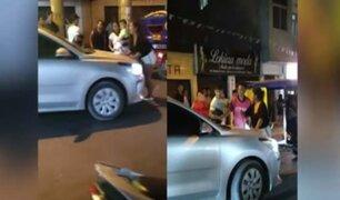 Huaral: mujer se pone delante de auto para impedir que su pareja y la amante de este huyan