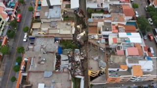 Arequipa: 7 casas colapsan en Yanahuara por intensas lluvias