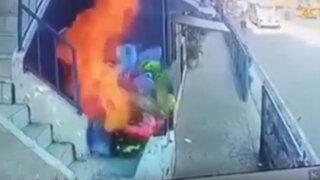 """Niños prenden fuego a vendedor de globos, era una """"bromita"""" dijeron"""