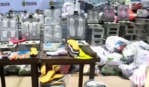Intervienen fábrica de zapatillas 'bamba': valor de productos incautados asciende a S/7 millones