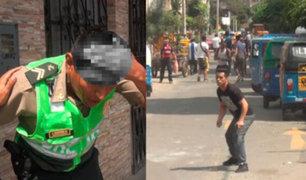 Surco: mototaxistas extranjeros informales rompen cabeza a policía