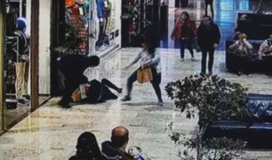 Francia: violento asalto a mujer en centro comercial