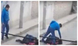Ayacucho: mujer fue golpeada salvajemente en plena calle