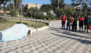 Chiclayo: mujer es hallada muerta en banca de parque