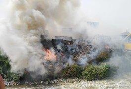 Reportan incendio forestal que amenaza con llegar a viviendas en SMP