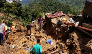 Impactantes Imágenes: Vientos huracanados y un deslizamiento de tierra golpearon la región Amazonas