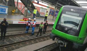 Metro de Lima: suspenden servicio luego que hombre muriera arrojándose a las vías