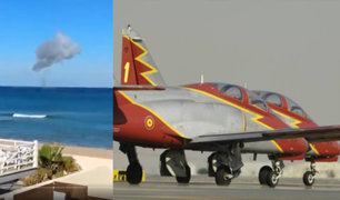 España: fallece piloto tras estrellarse en el mar con avioneta de la fuerza aérea