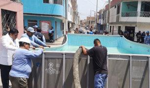 Callao: realizan operativo para decomisar piscinas portátiles instaladas en la vía pública