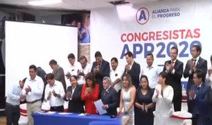 Alianza para el Progreso: congresistas ratifican pacto de gobernabilidad