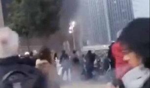 Impactantes imágenes: incendio consume estación de trenes en Lyon