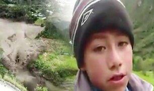 Cusco: niño que perdió a sus padres clama ayuda a presidente Vizcarra