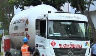 San Isidro: alarma por fuga de gas de camión cisterna