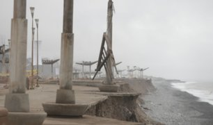 Erosión pone en peligro malecón de la Costa Verde
