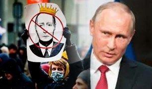 Oposición rusa pide la dimisión de Vladimir Putin en marcha de protesta