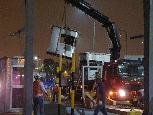 La Molina: garitas de peaje fueron retiradas de la avenida Separadora Industrial