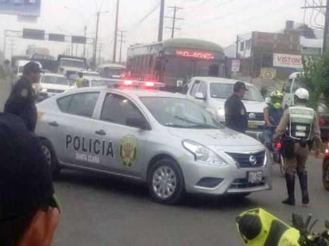 Ate: camión arrolla a motociclista en la Carretera Central