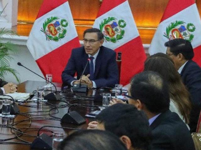 Presidente Vizcarra continúa conversaciones con partidos políticos