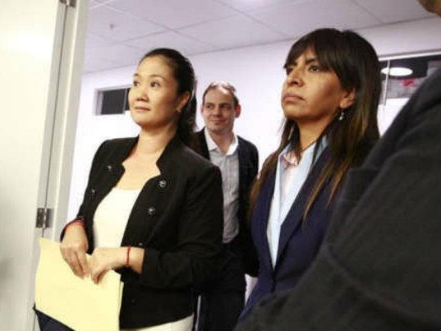 Abogada de Keiko Fujimori insiste que presentó apelación dentro del plazo establecido