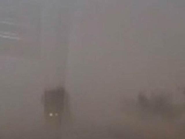 Tormenta de arena alarmó a los pobladores de la región Ica