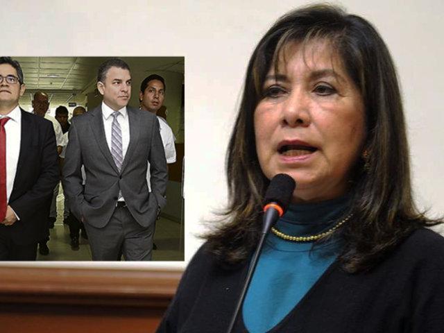 Martha Chávez respecto a demanda de Odebrecht: deben remover a Pérez y Vela e investigarlos