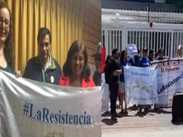 """Colectivo """"La Resistencia"""" estaría detrás de las agresiones a la esposa de José Domingo Pérez"""