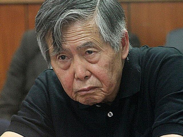 Alberto Fujimori recibió el alta médica y regresó a la Diroes
