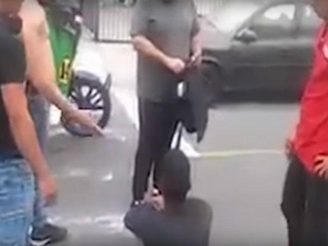 SMP: venezolanos capturan y golpean a compatriota por robar